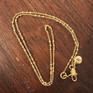 Madewell simple gold chain necklace